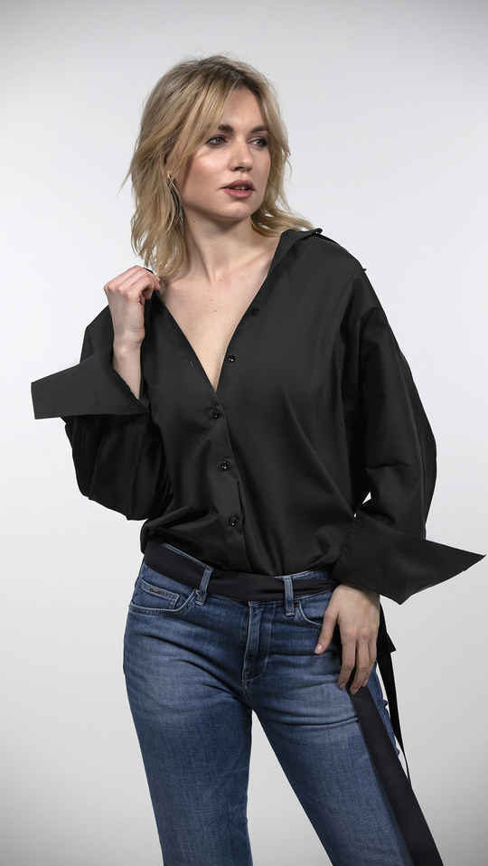 Shirt ANDRÉE Black Sawn